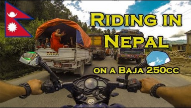 Insane Travel Adventure- Riding Across Nepal on a Bajaj Pulsar Motorcycle