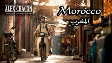 Riding a C90 Scooter through Marrakech Morocco - A cultural ride through North Africa
