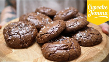 Salted Chocolate Brownie Cookies | Cupcake Jemma