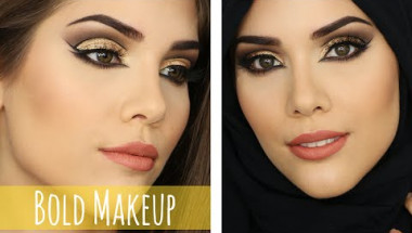 EID/ HIJAB MAKEUP TUTORIAL | Arabic Inspired Double Wing + Cut Crease Look