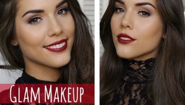 Easy Holiday Glam | Red Lips & Brown Eyes Makeup Tutorial