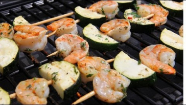 Shrimp Kebabs Recipe - Laura Vitale - Laura in the Kitchen Episode 431
